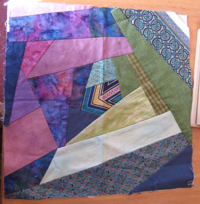 Scrap quilt block