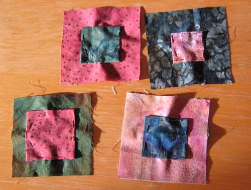 Squares quilt blocks